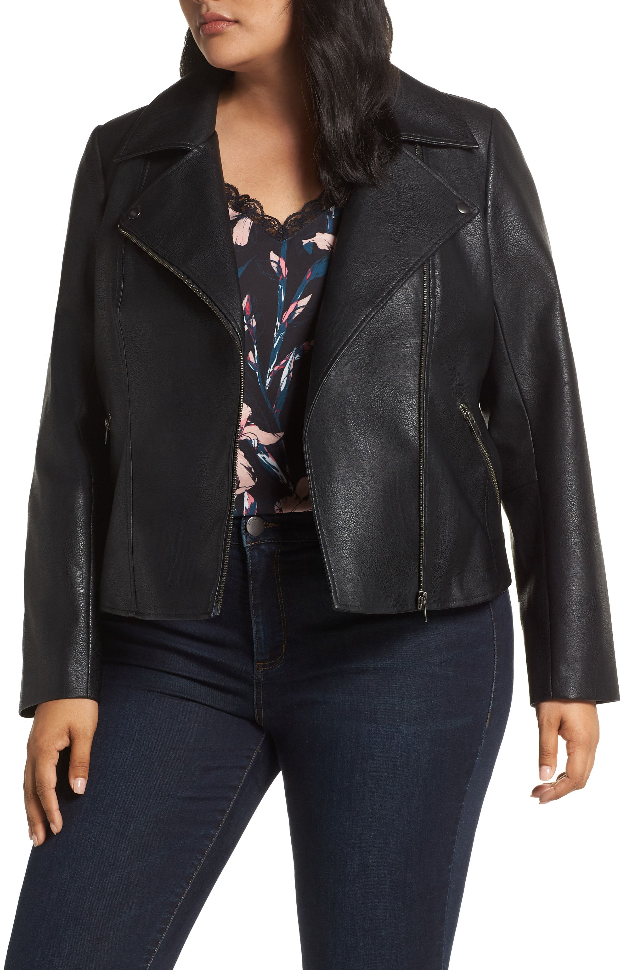 72ef6bf783514 Halogen® Faux Leather Moto Jacket available at  Nordstrom