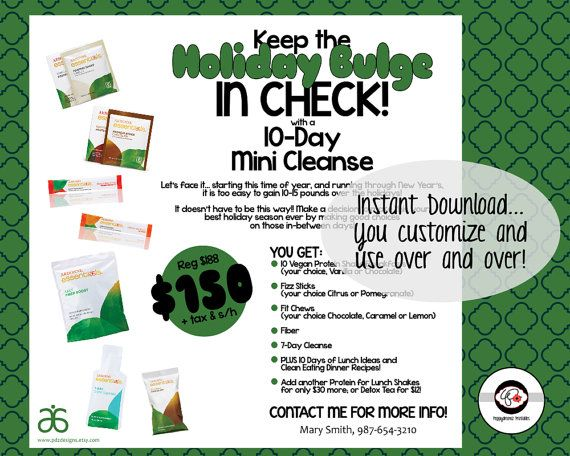 Keep the Holiday Bulge In Check 10-Day Arbonne Mini by PDZDesigns