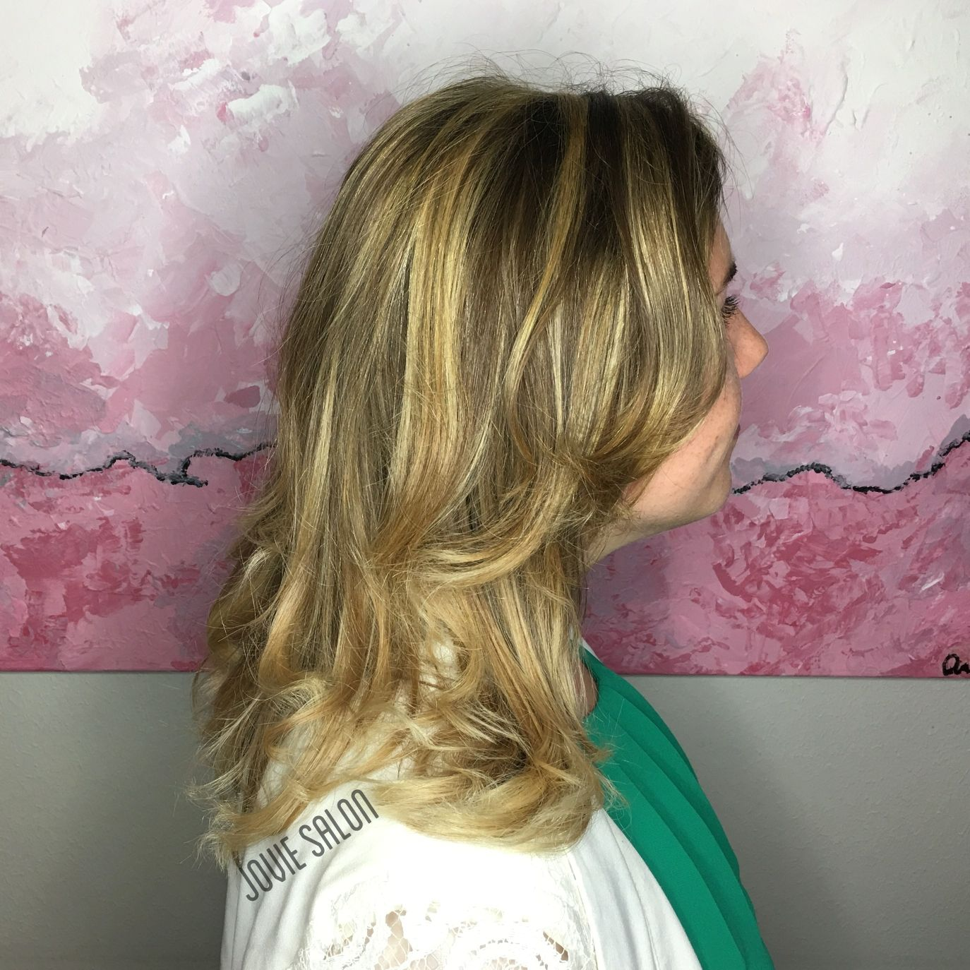Blending an old balayage with some new golden highlights by