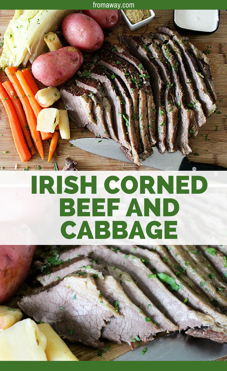 Irish corned beef and cabbage. St. Patrick's Day food
