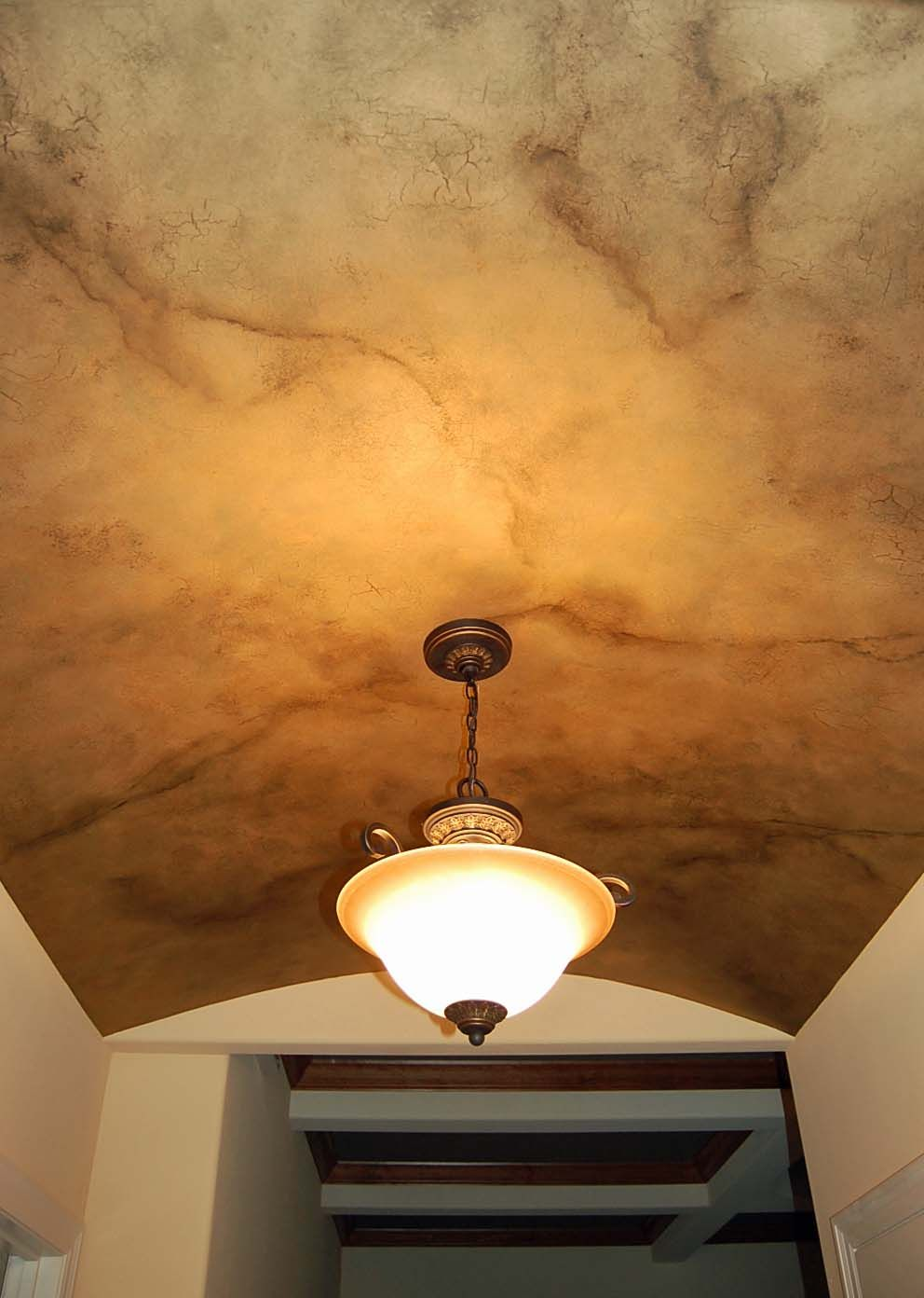 Metallic Crackle Faux Finish On Ceiling Faux Walls