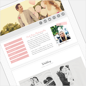ProPhoto4 template from Pretty Lovely -- so pretty!   Design, Color ...