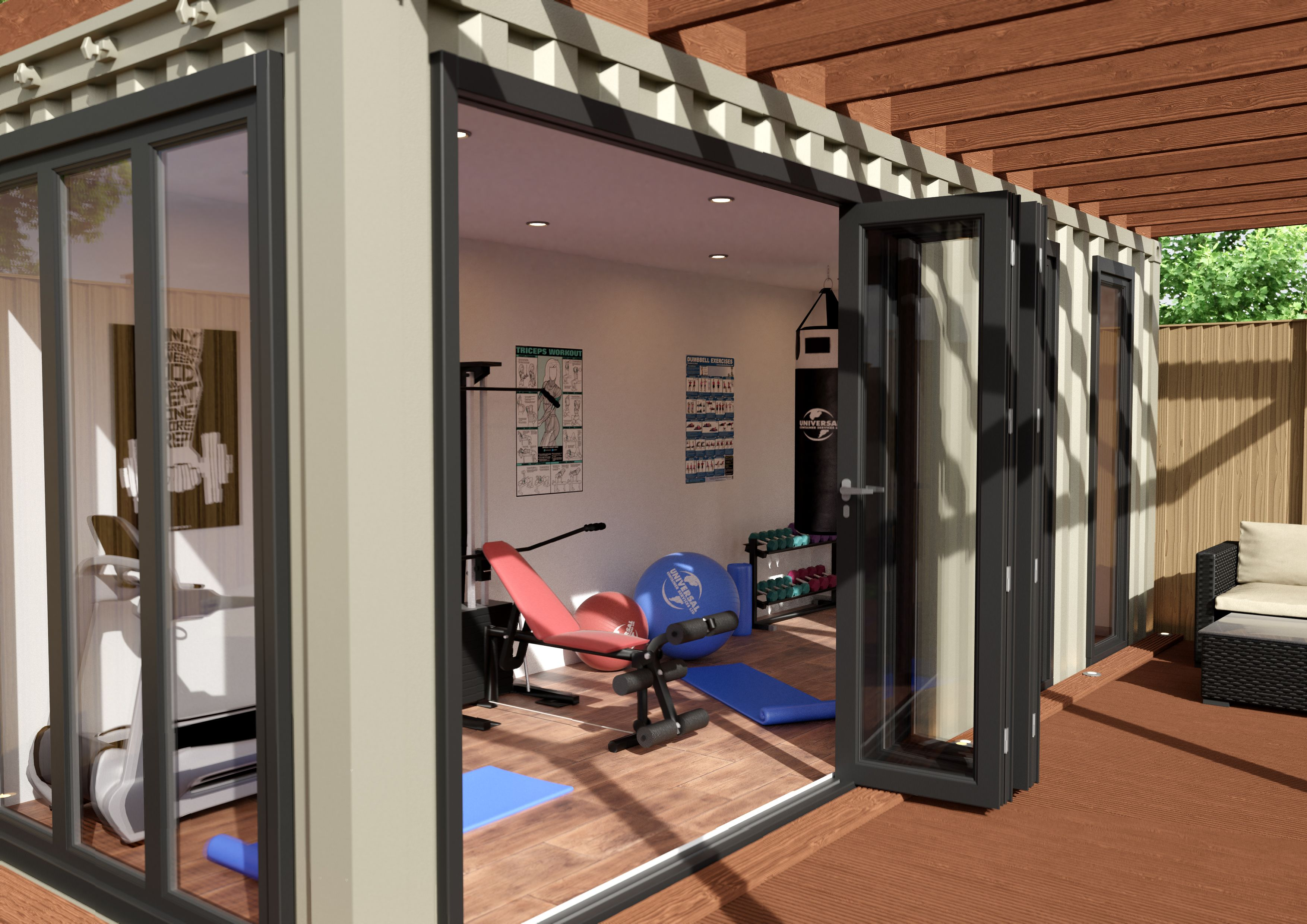 Outdoor Living in 2020   Home gym design, Gym room at home ...