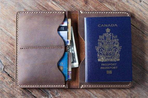 Passport Wallet PERSONALIZED Leather Passport Wallet by JooJoobs
