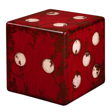 Dice Accent Table - this would be awesome for our basement/game room