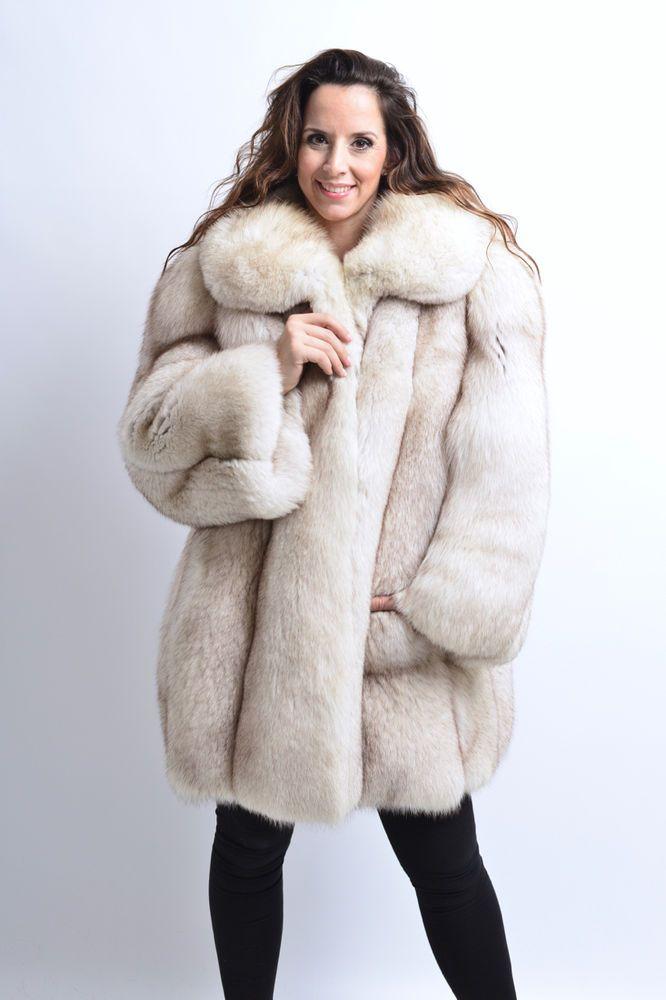 beautiful in colour hot-selling real 2019 clearance sale SAGA BLUE FOX FUR COAT FULL SKIN CLASS OF JACKET HOPKA MINK ...