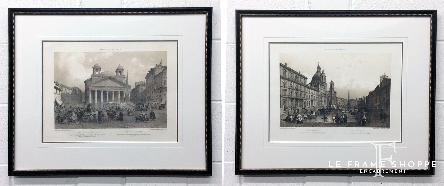 We designed the #framing for these #antique architectural #prints ...