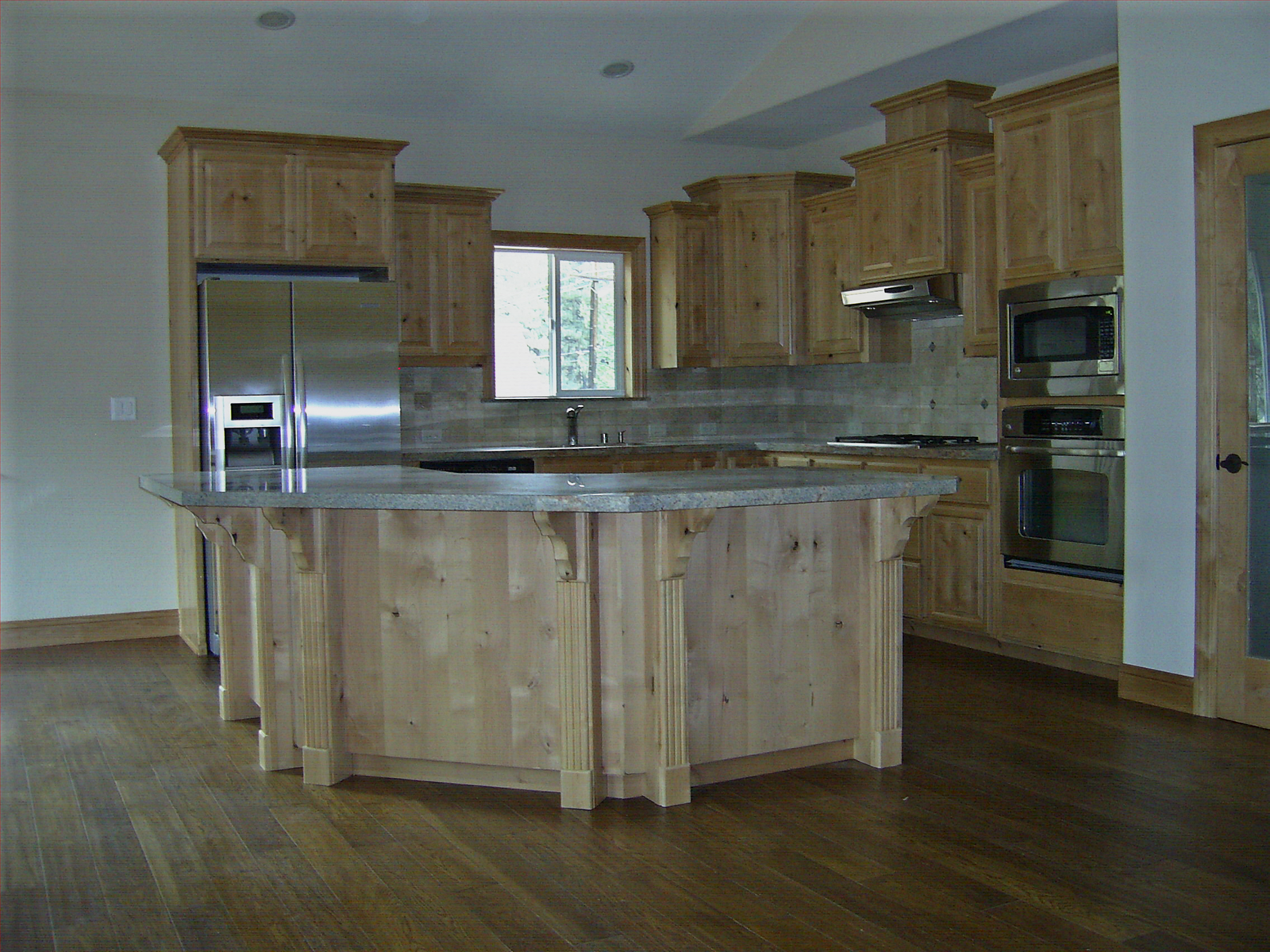 Natural Knotty Alder Wood Kitchen Cabinets | KNOTTY ALDER KITCHEN CABINET  DOORS   Cabinet Storage