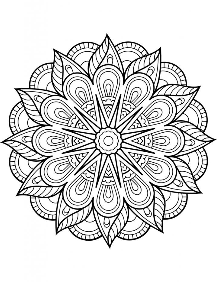 mandalas ausmalen  coloring pages  malvorlagen blumen