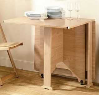 Mesaalas muebles tiny house pinterest mesas - Mesa plegable con sillas dentro ...