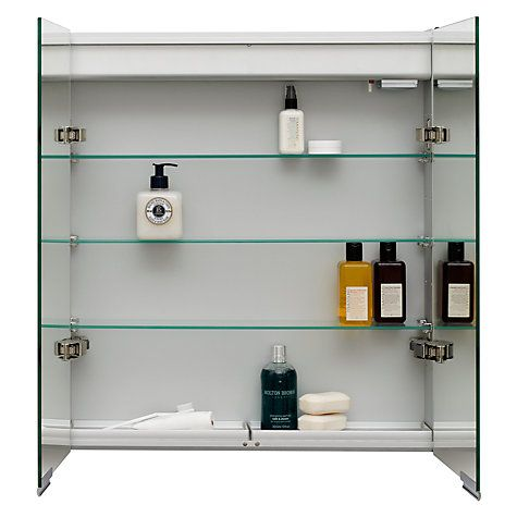 buy john lewis summit illuminated double bathroom cabinet with double sided mirror online at johnlewis - Bathroom Cabinets John Lewis