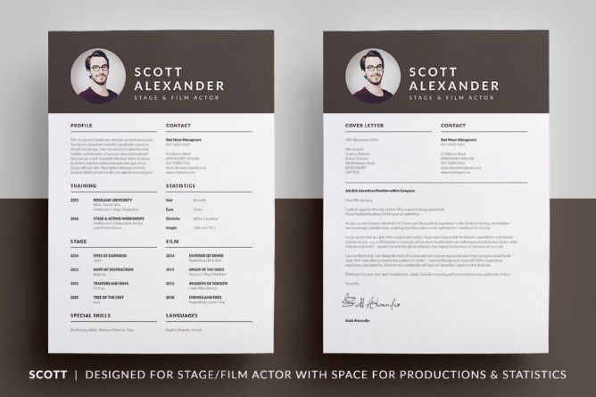 Acting Resume Template Psd Ai Indesign And Word Format Download Acting Resume Template Resume Template Lettering