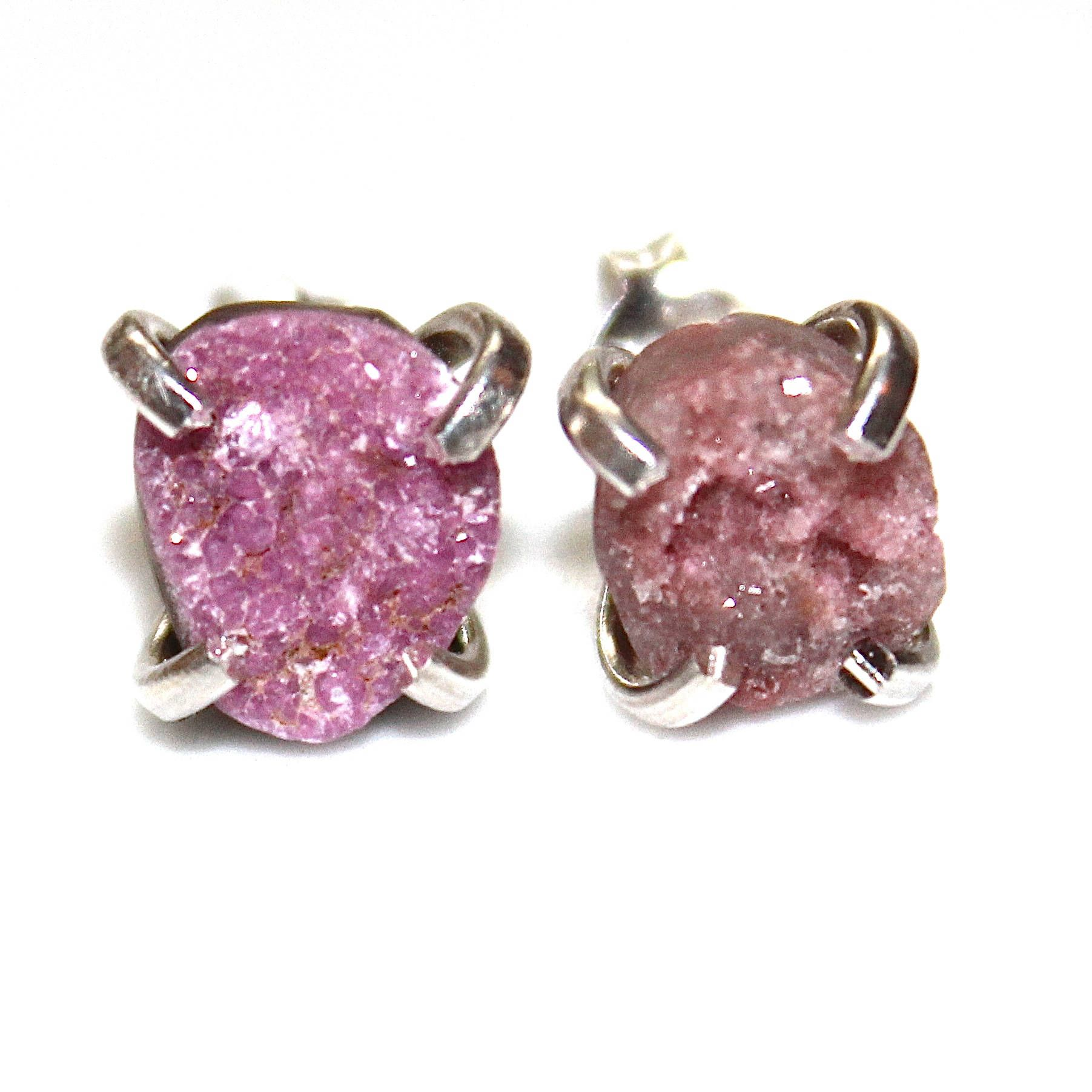 Natural Cobalto Calcite Druzy Earring Pink Druzy Earring Drusy Earring Druzy Jewelry Sparkly Pink Earring Drussy Earring Crystal Earring by FizzCandy on Etsy