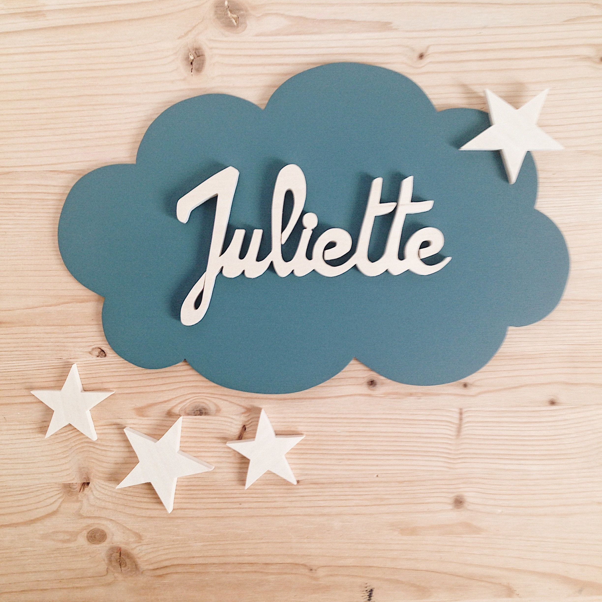 mural decoration child baby room cloud