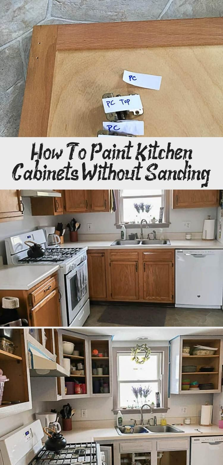 How to paint kitchen cabinets - no sanding required! #kitchencabinets #kitchencabinetideas #kitchencabinetsmakeover #HomeDecorDIYVideosApartment #HomeDecorDIYVideosOnABudget #HomeDecorDIYVideosCheap #HomeDecorDIYVideosBedroom #HomeDecorDIYVideosProjects