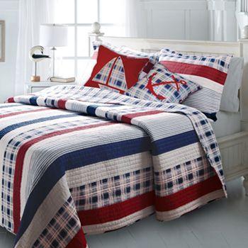 Guest Bedroom Nautical Stripes Reversible Quilt Coordinates Kohls