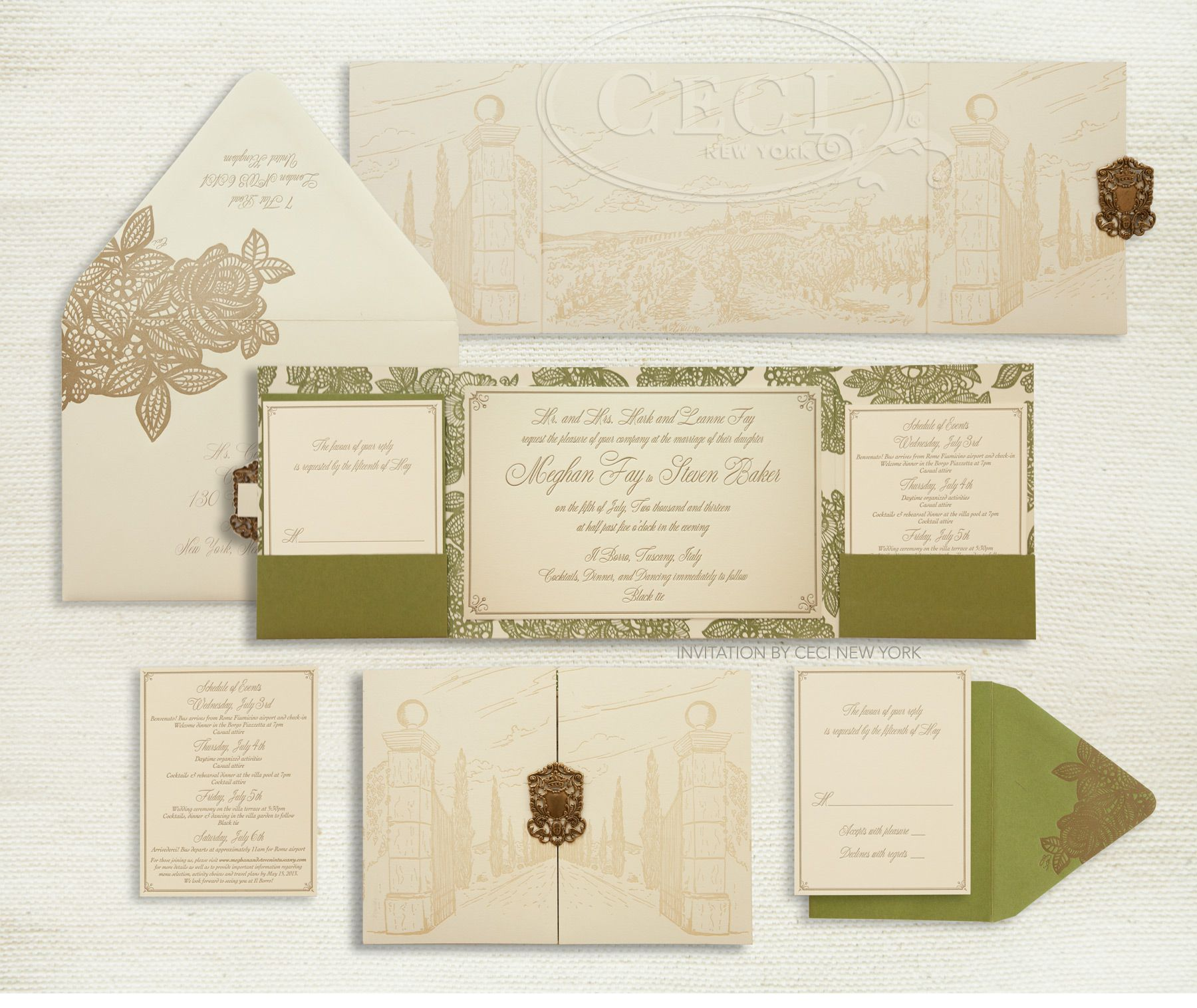 Luxury Wedding Invitations by Ceci New York Our Muse Italian