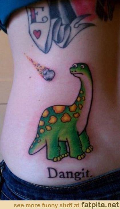 Funny Dinosaur Tattoo Funny Tattoos Dinosaur Tattoos Tattoos