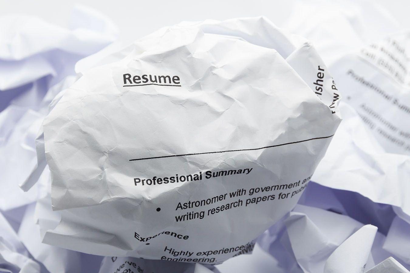 10 Boneheaded Resume Mistakes That Guarantee You Won't Get