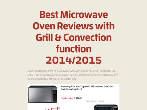 Best Microwave Oven Reviews with Grill & Convection function 2014/2015