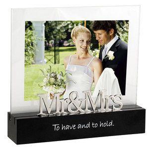 5x7 Mr Mrs Horizontal Picture Frame Walmart Com Wedding Picture Frames Framed Wedding Photos Picture On Wood