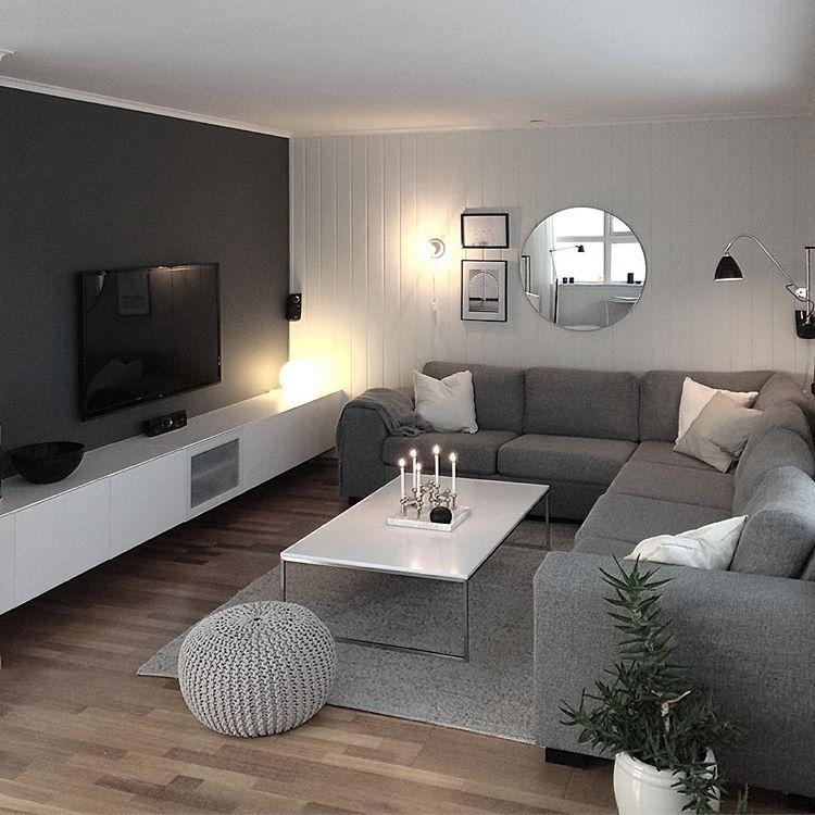 God Kveld Fra Stua Nordicdecor Whiteinterior Scandinavianinterior Nordici Affordable Living Rooms Simple Living Room Living Room Grey