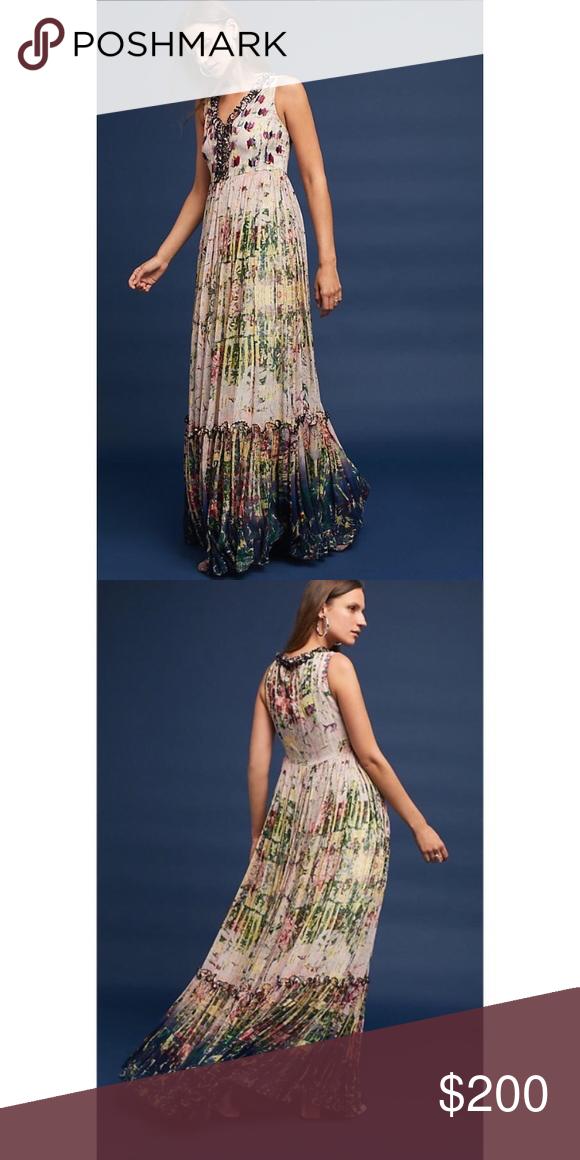 f1e9b9f48c106 NWT Anthropologie cydney Tiered maxi dress NWT Anthropologie Dresses Maxi
