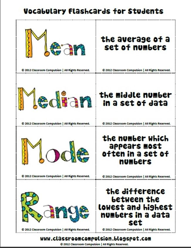 Printable Worksheets finding the mean median and mode worksheets : Range Median Mode: 24 Quick, Free Activities and Resources ...