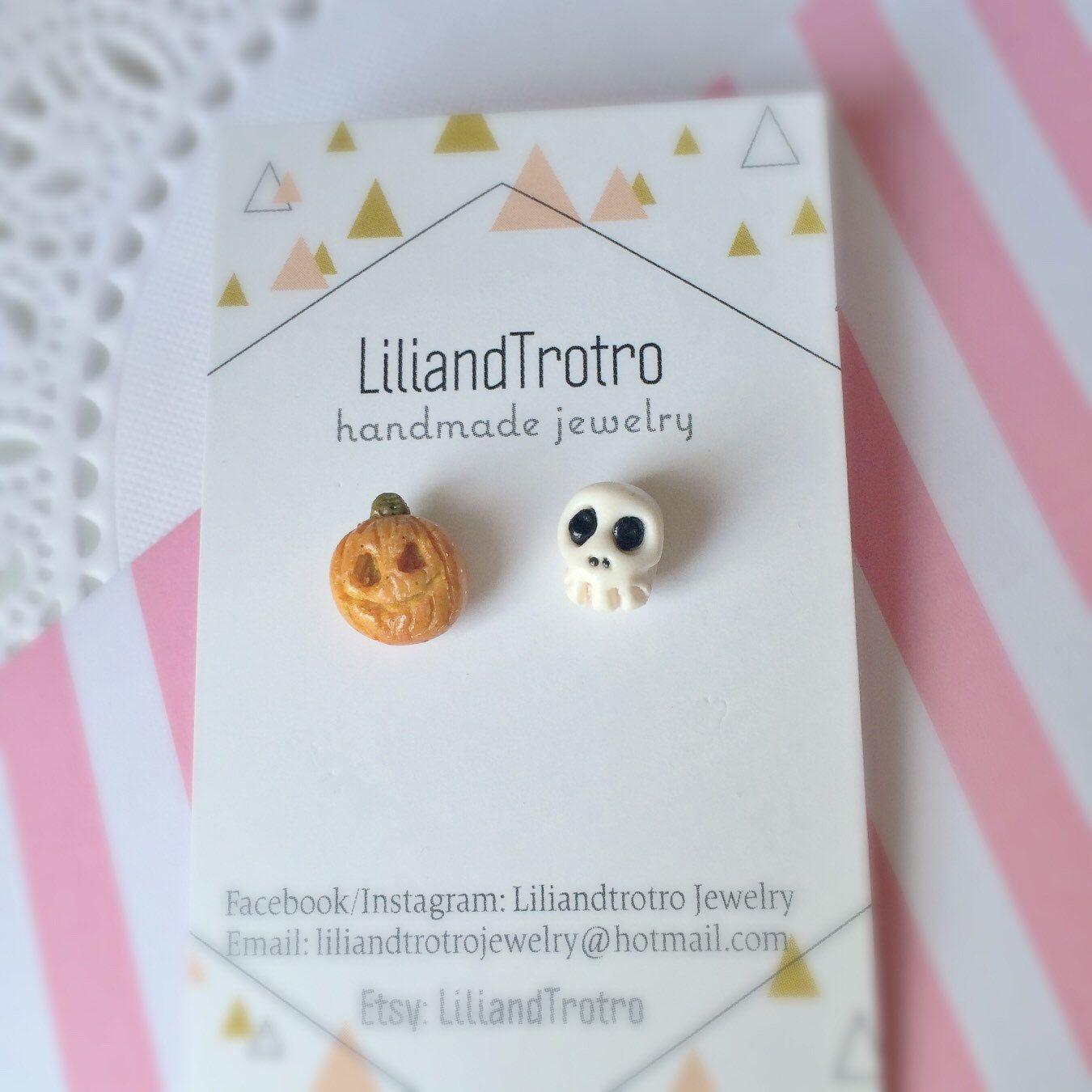 A personal favorite from my Etsy shop https://www.etsy.com/ca/listing/476942025/halloween-earrings-ghost-earrings