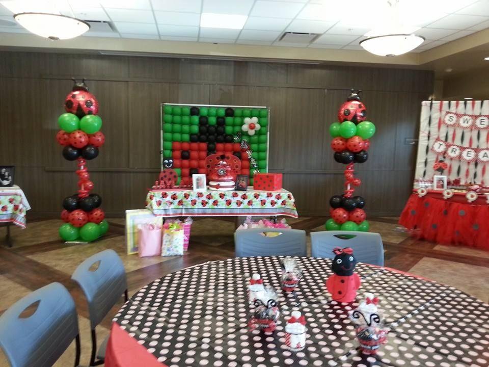 LADYBUG PARTY THEME BALLOONS JujuBees Balloon Decorating lady