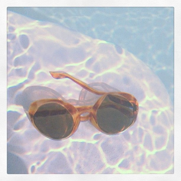 My mother's 1970's #shades at #underwater in the #pool, Spring is here!