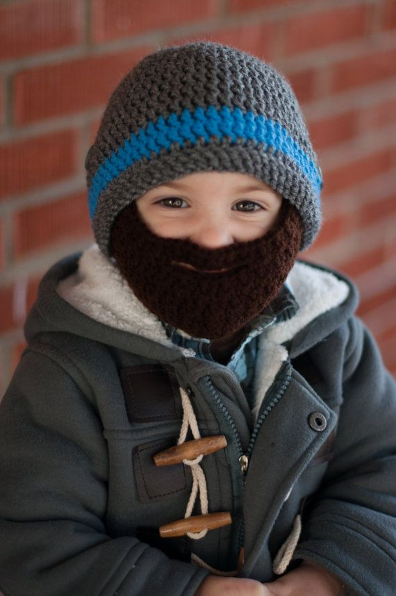 6713a79d715ef Anybody else think beardos are the most adorable way possible to keep your  childs face warm and look super-duper manly   This beardo hat is