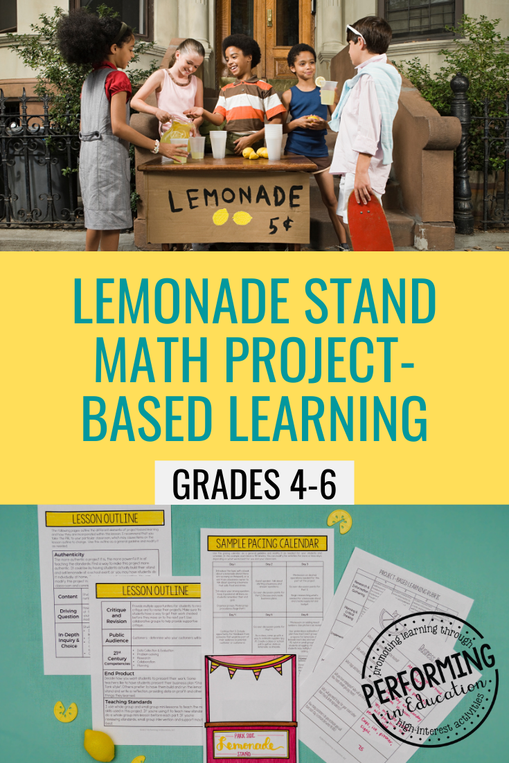 Lemonade Stand Project Based Learning Project Project Based Learning Math Project Based Learning Math Projects [ 1102 x 735 Pixel ]