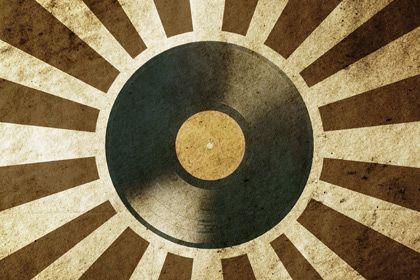 Retro Vinyl Record Vinyl Vintage Music Stock Illustration