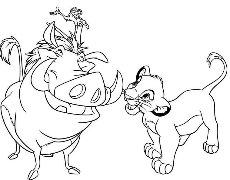 Simba/Timon/Pumba (O Rei Leão - The Lion King) | Desenhos/Mandalas ...