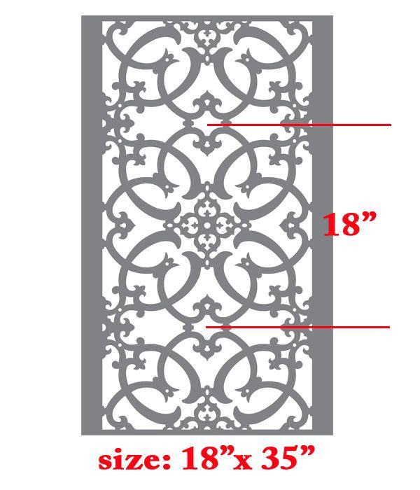 Iron Work Allover Pattern Wall Stencil Home Decor Thumbnail 1
