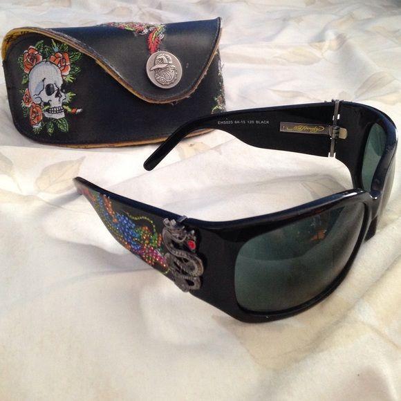 fff1ac948ad9 SALE Ed Hardy Sunglasses Ed Hardy vintage tattoo eyewear EHS 025 Geisha and  Dragon sunglasses in black. Accepting reasonable offers!!