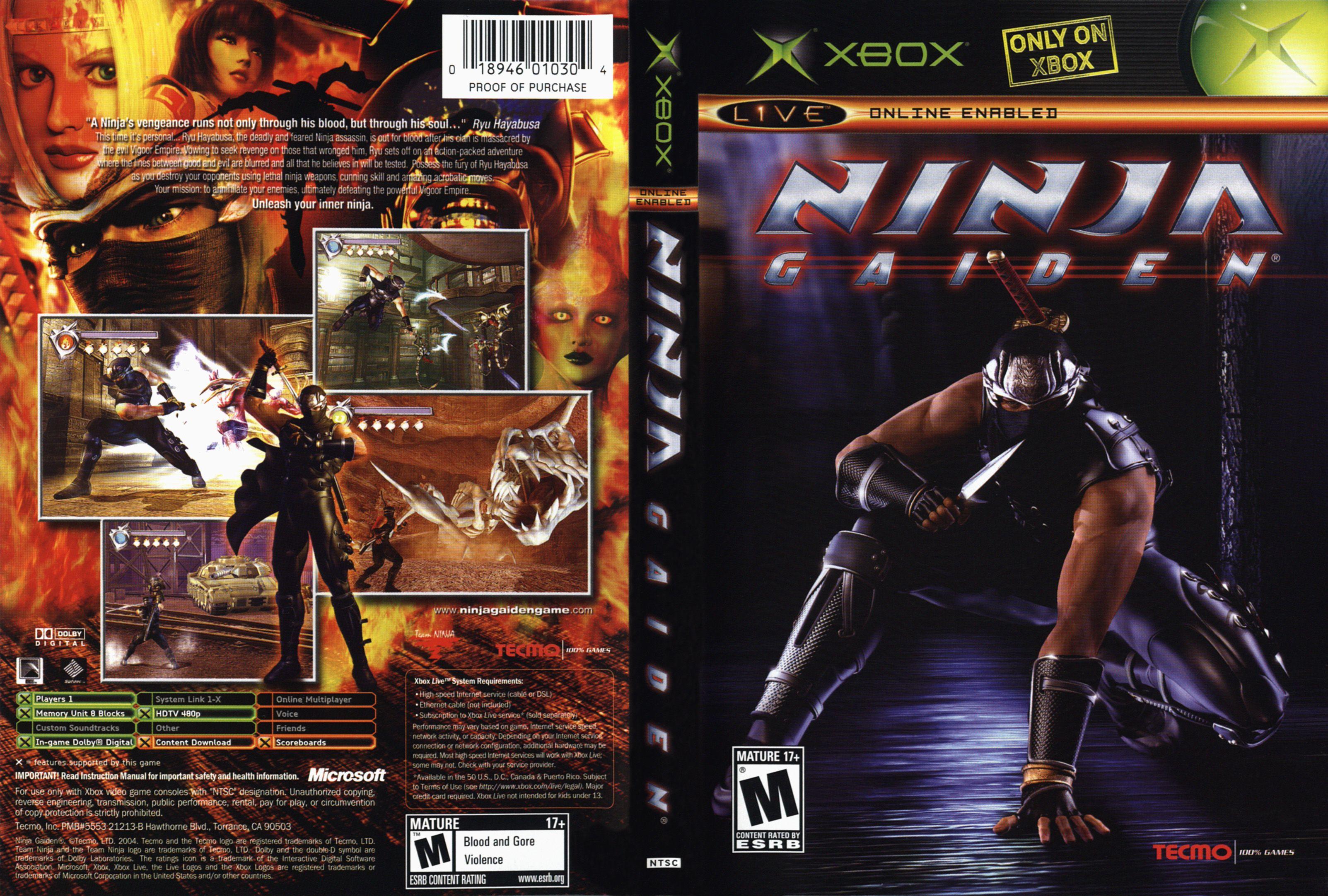 Xbox Ninja Gaiden Xbox Ninja Gaiden Xbox Live