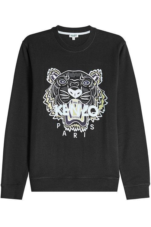 0f5bfa2fa33 KENZO Embroidered Cotton Sweatshirt.  kenzo  cloth