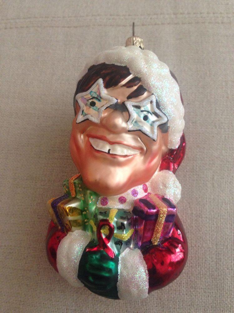 Elton John Christmas Ornament.Christopher Radko Sir Elton John Claus Christmas Ornament
