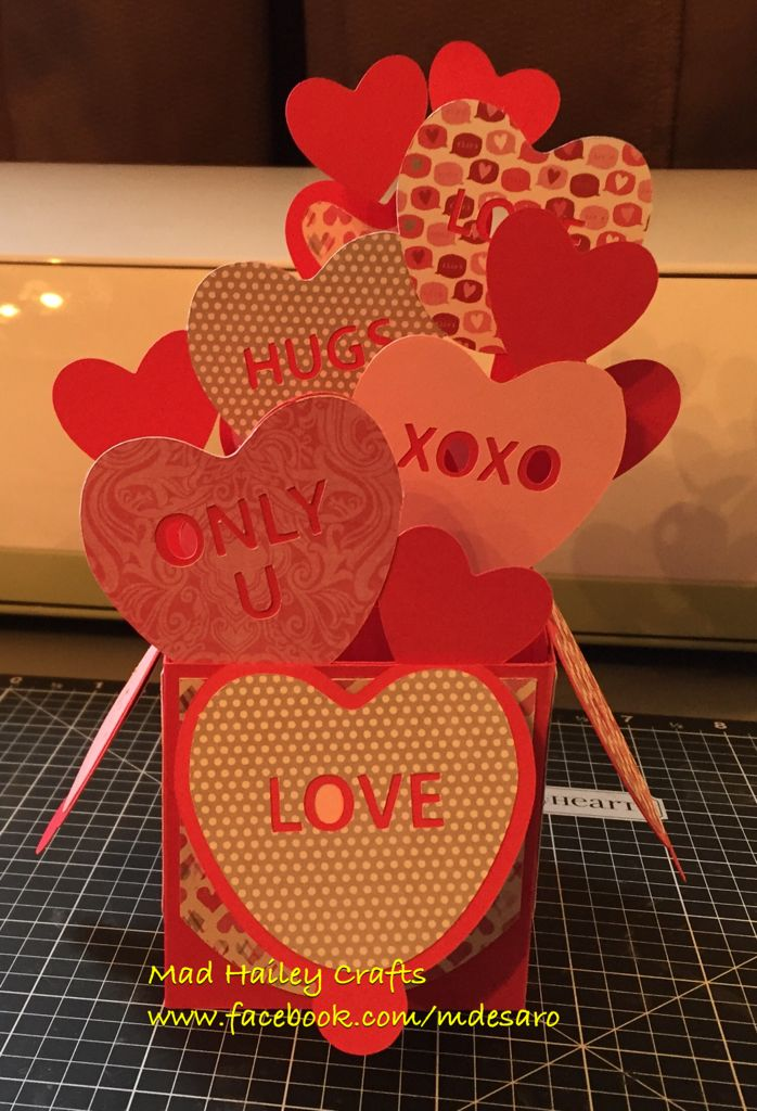 Valentines box cards Svgs cut from Cricut Design space The Svgs