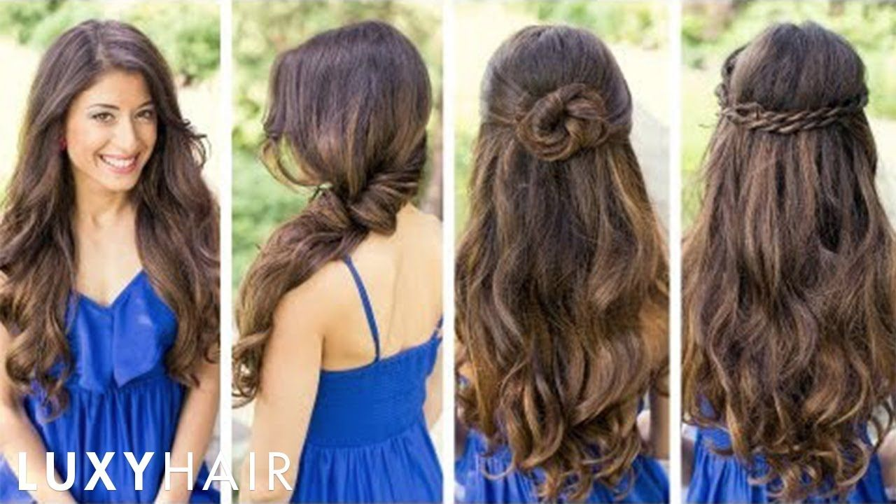 Beautiful and simple hairstyles for medium hair 18