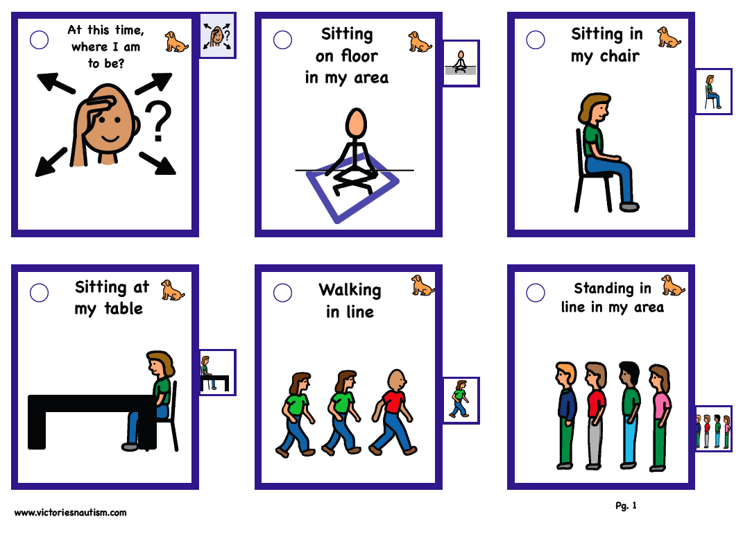 Sequence Cards for Visual Supports - Lining up with Class ...