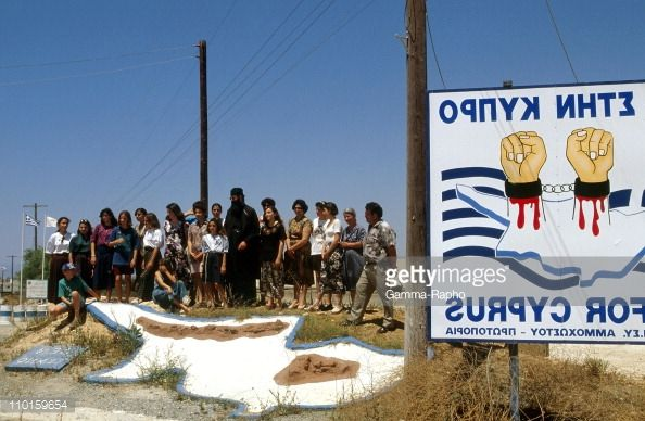 CYPRUS - JUNE 01: Greek pilgrimage in Dherinia, Cyprus in June,... #dherinia: CYPRUS - JUNE 01: Greek pilgrimage in Dherinia,… #dherinia