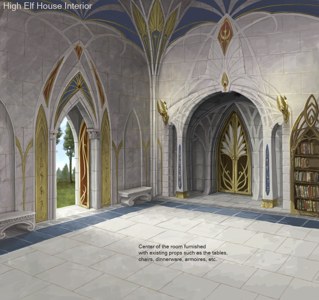 ArtStation - High Elf Interior Paintover, Sven Bybee