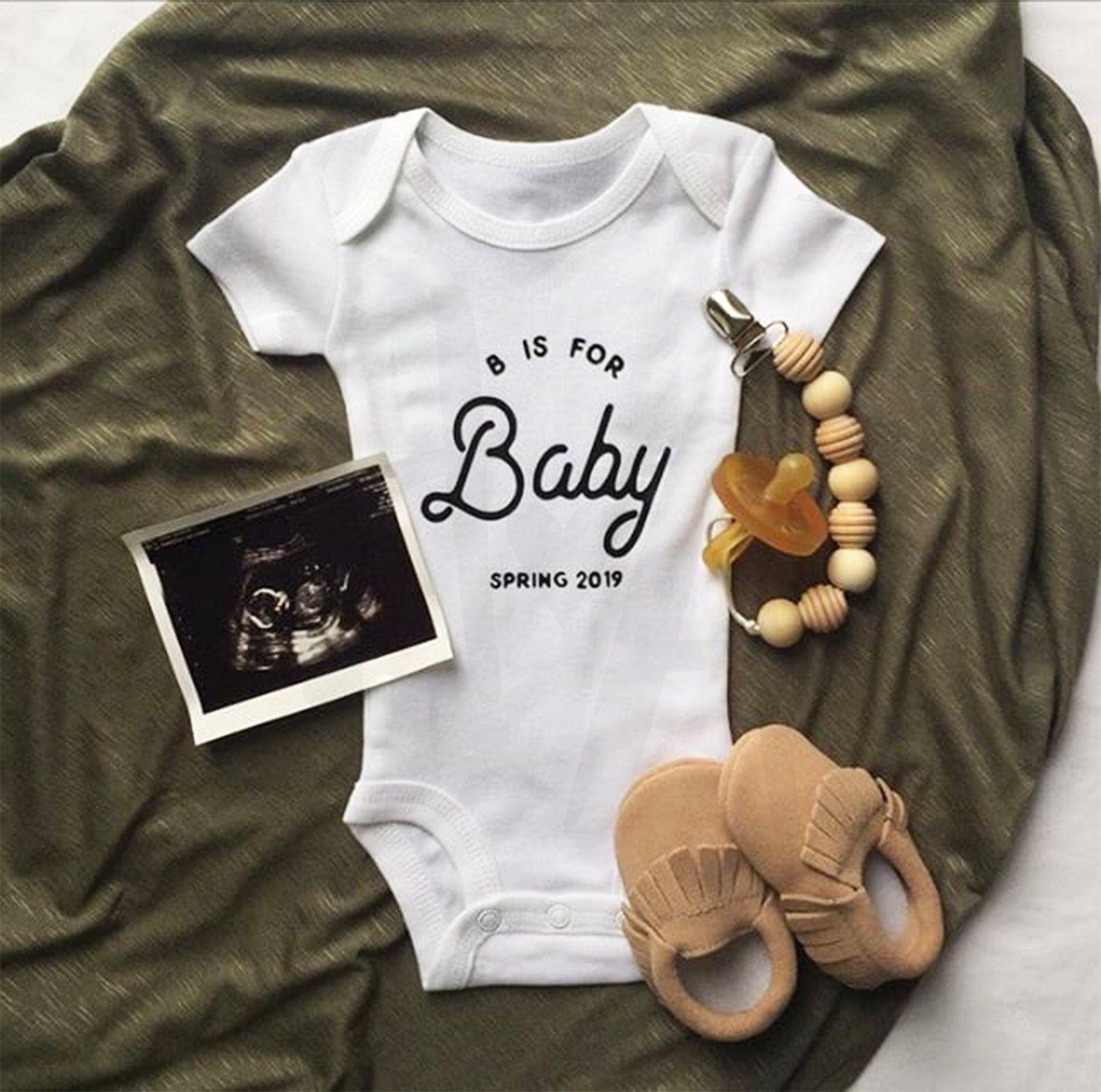 Pregnancy Reveal Announcement Photo Prop Pregnancy Announcement Onesie Maternity Photo Prop Baby Announement Onesie Reveal Expecting