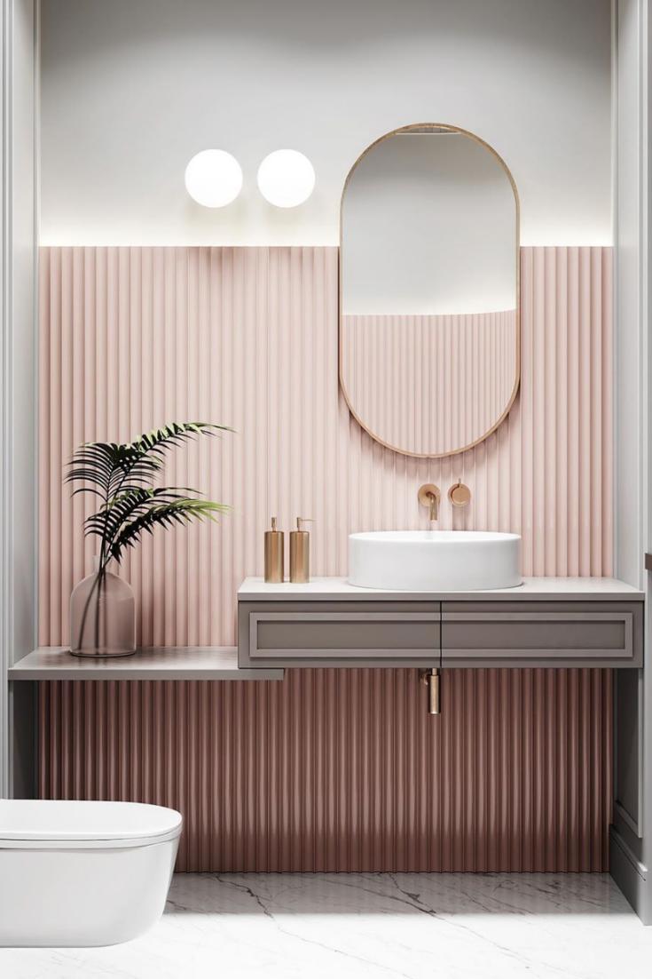 Deco Salon Gris Rose Épinglé sur wc