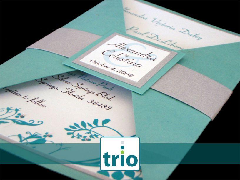 Teal And Silver Wedding Invitations | Wedding Invitations
