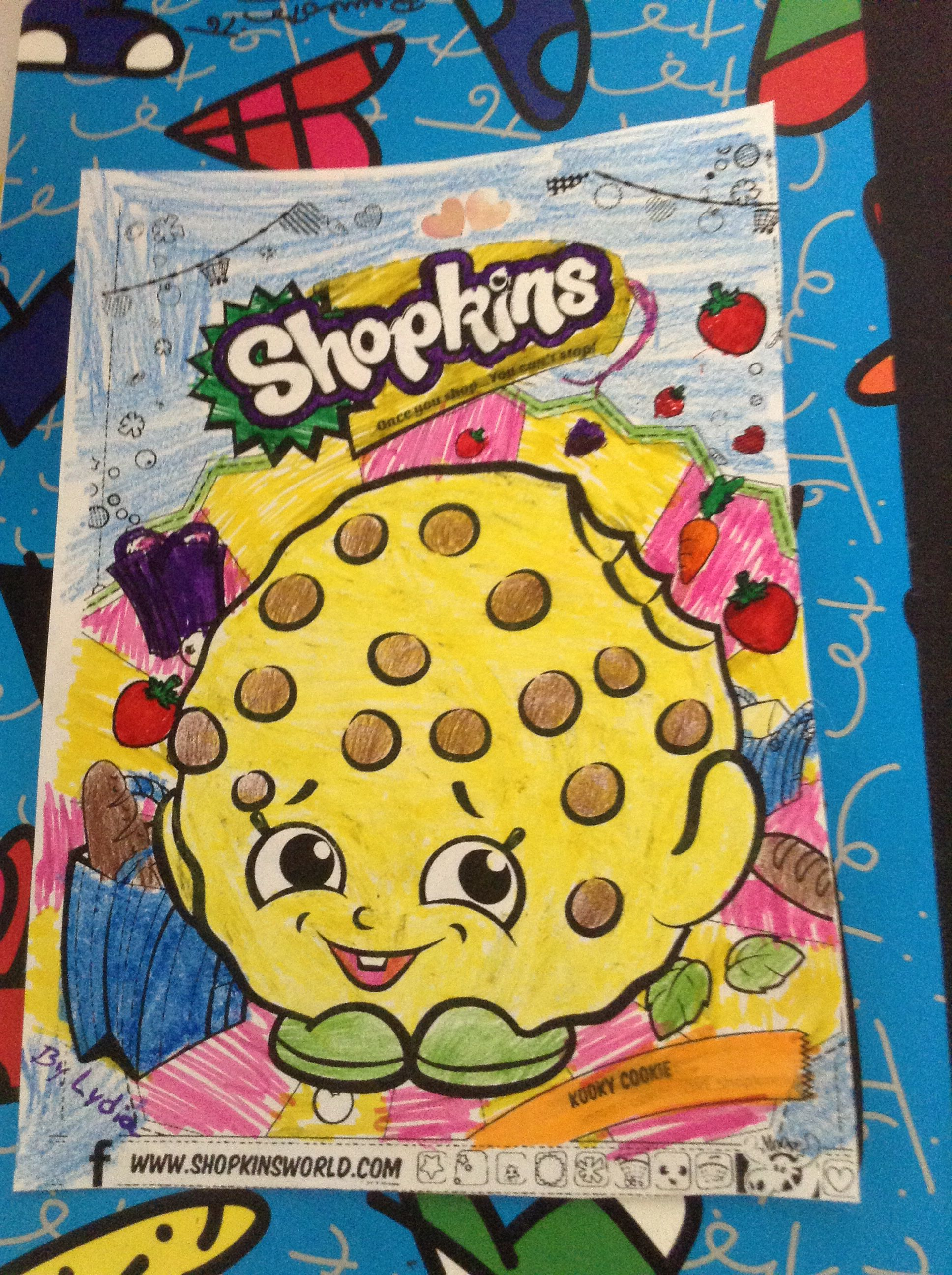 My First Shopkins Coloring Page Full Colored By Me So Fun To Do