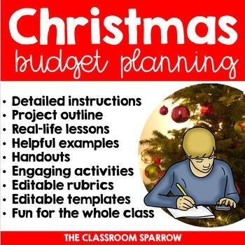 This is a Christmas-themed personal finance project useful for